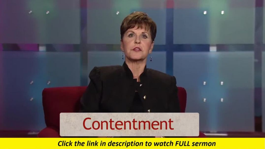 Joyce Meyer — The Power of Contentment